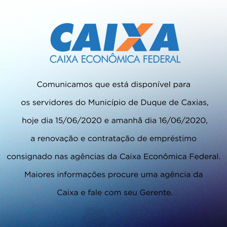 INFORMAÇÃO DA CAIXA